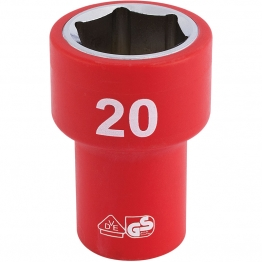 """3/8"""" Sq. Dr. Fully Insulated Vde Socket (20mm)"""