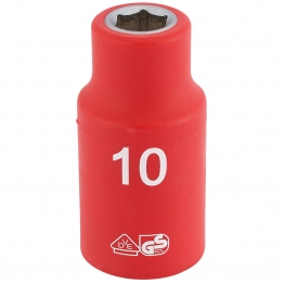"""1/2"""" Sq. Dr. Fully Insulated Vde Socket (10mm)"""
