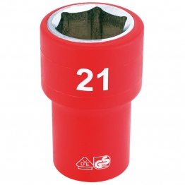 """1/2"""" Sq. Dr. Fully Insulated Vde Socket (21mm)"""