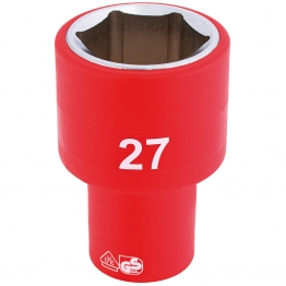 """1/2"""" Sq. Dr. Fully Insulated Vde Socket (27mm)"""