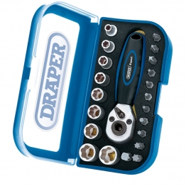 "1/4"" Square Drive Double Driver Socket And Bit Set (22 Piece)"