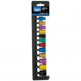 "3/8"" Sq. Dr. Metric Coloured Socket Set (12 Piece)"