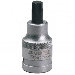 """Expert T50 X 55mm 1/2"""" Square Drive Draper Tx-star"""