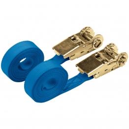 250kg Ratcheting Tie Down Strap Sets (4.5m X 25mm) (2 Piece)