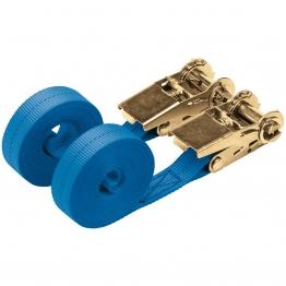 400kg Ratcheting Tie Down Strap Sets (4.5m X 25mm) (2 Piece)