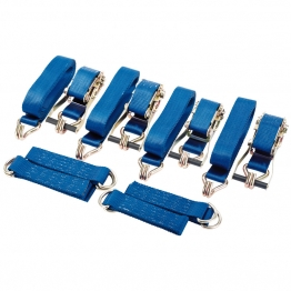2250kg Ratcheting Vehicle Tie Down Strap Set (4 Piece)