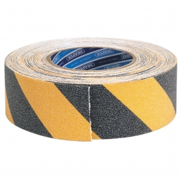 18m X 50mm Black And Yellow Heavy Duty Safety Grip Tape Roll