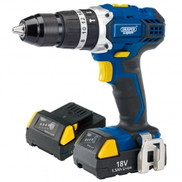 Expert 18v Cordless Combi Hammer Drill With Two Li-ion Batteries