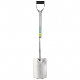 Extra Long Stainless Steel Garden Spade With Soft Grip