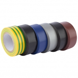 Expert 6 X 10m X 19mm Mixed Colours Insulation Tape To Bsen60454/type2