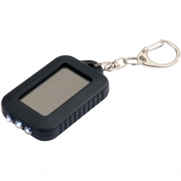 3 Led Solar Powered Key Ring Torch