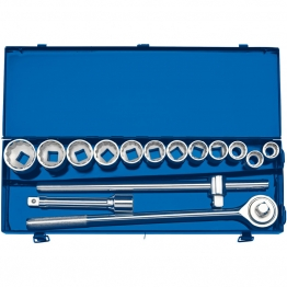 "3/4"" Sq. Dr. Metric Socket Set In Metal Case (15 Piece)"