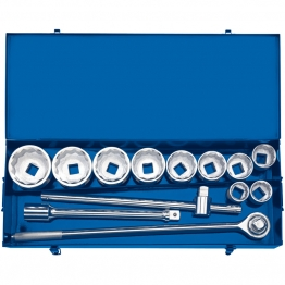 "1"" Sq. Dr. Metric Socket Set In Metal Case (13 Piece)"