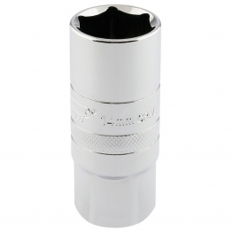 "1/2"" Square Drive 14mm Thread 6 Point Spark Plug Socket (21mm Socket)"