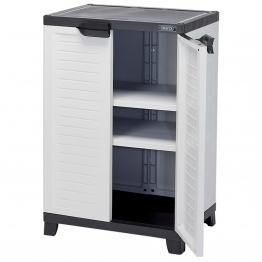 Heavy Duty Plastic 2 Shelf Utility Cabinet