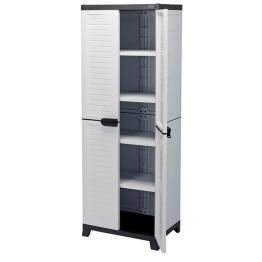 Heavy Duty Plastic 4 Shelf Plastic Utility Cabinet