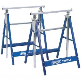 Pair Of Telescopic Saw Horses Or Builders Trestles