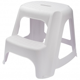 White Plastic Two Step Stool