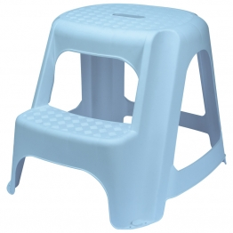 Blue Plastic Two Step Stool