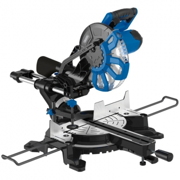 250mm 2000w 230v Sliding Compound Mitre Saw With Laser Cutting Guide