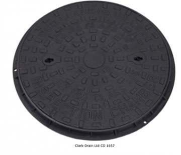 Clark-drain Inspection Chamber Cover And Frame Cast Iron 450mm Diameter - Cd 1657