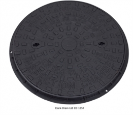 Clark-drain Inspection Chamber Cover And Frame Cast Iron 450mm Diameter - Cd 1657